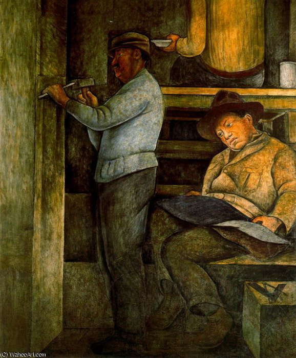 無題 (9933) バイ Diego Rivera (1886-1957, Mexico)