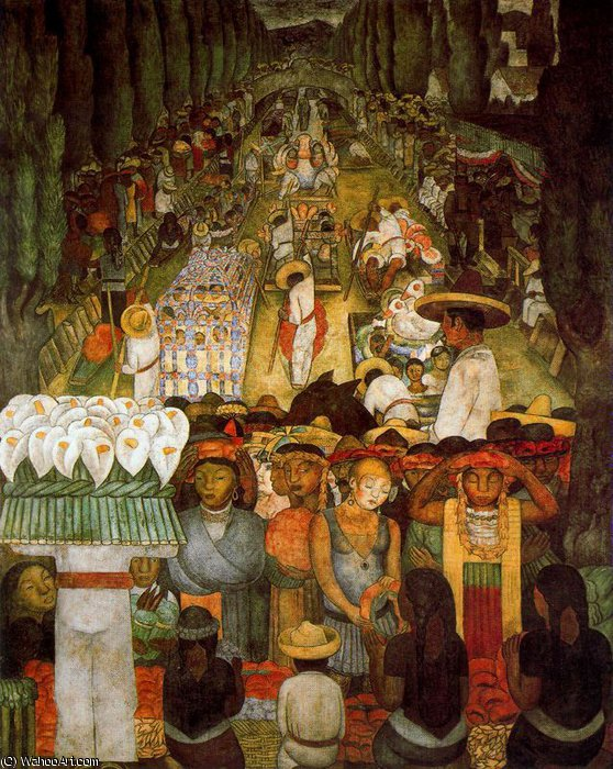 無題 (3791) バイ Diego Rivera (1886-1957, Mexico)