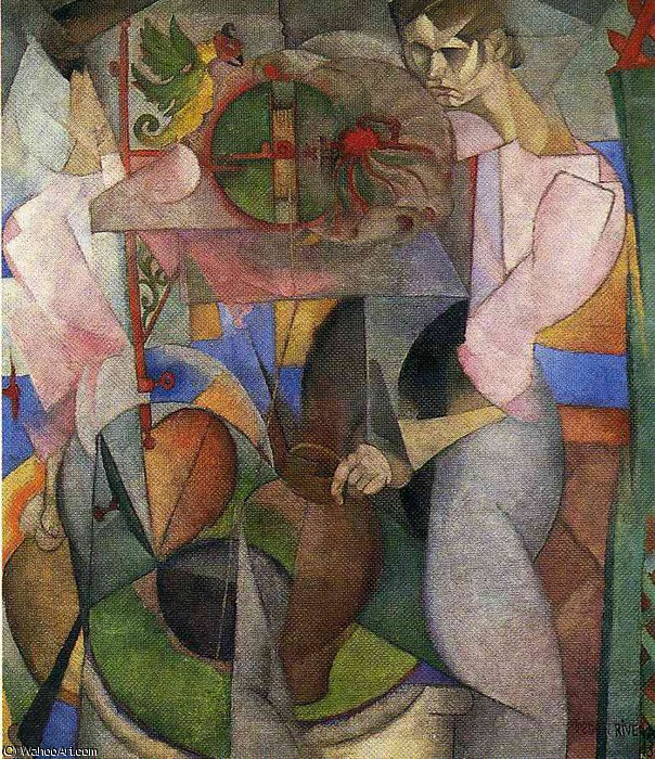 無題 (3883) バイ Diego Rivera (1886-1957, Mexico)