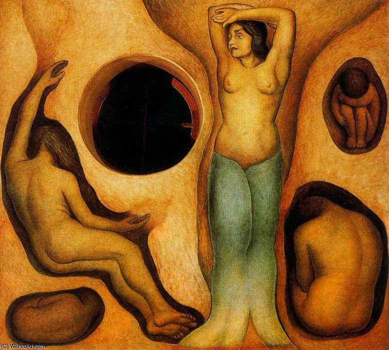 無題 (2383) バイ Diego Rivera (1886-1957, Mexico)