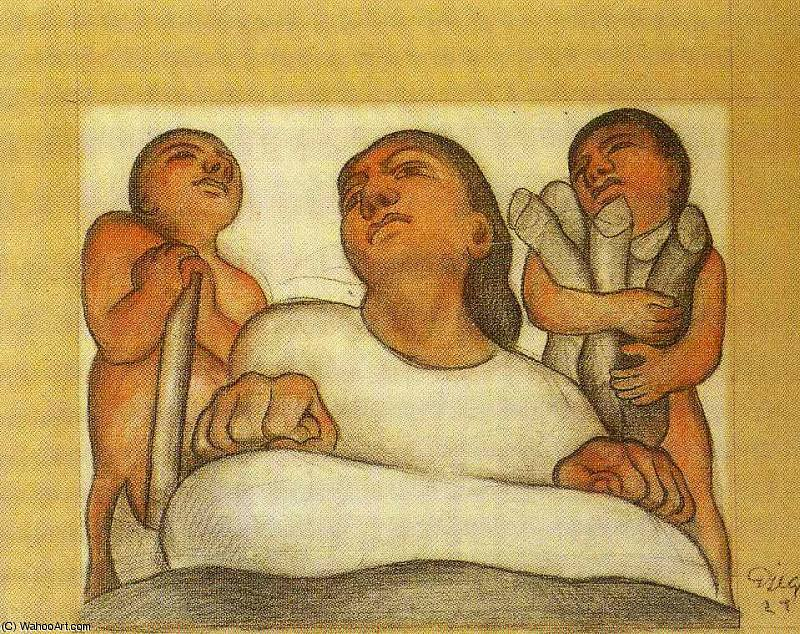 無題 (5317) バイ Diego Rivera (1886-1957, Mexico)