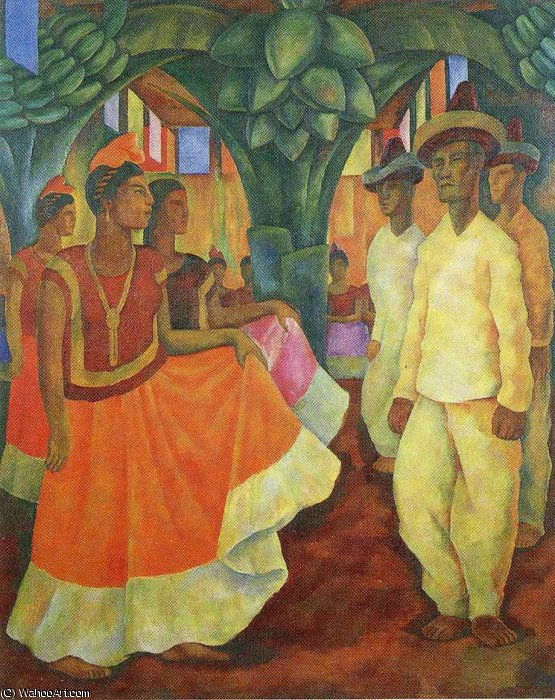 無題 (13) バイ Diego Rivera (1886-1957, Mexico)