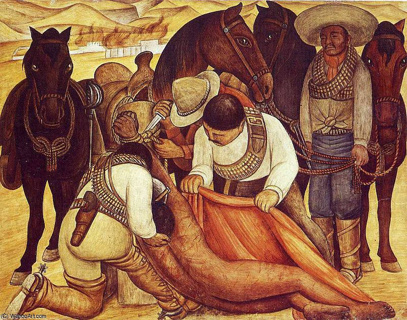 無題 (9201) バイ Diego Rivera (1886-1957, Mexico)