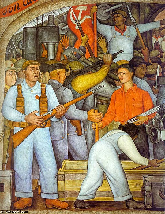 無題 (9657) バイ Diego Rivera (1886-1957, Mexico)