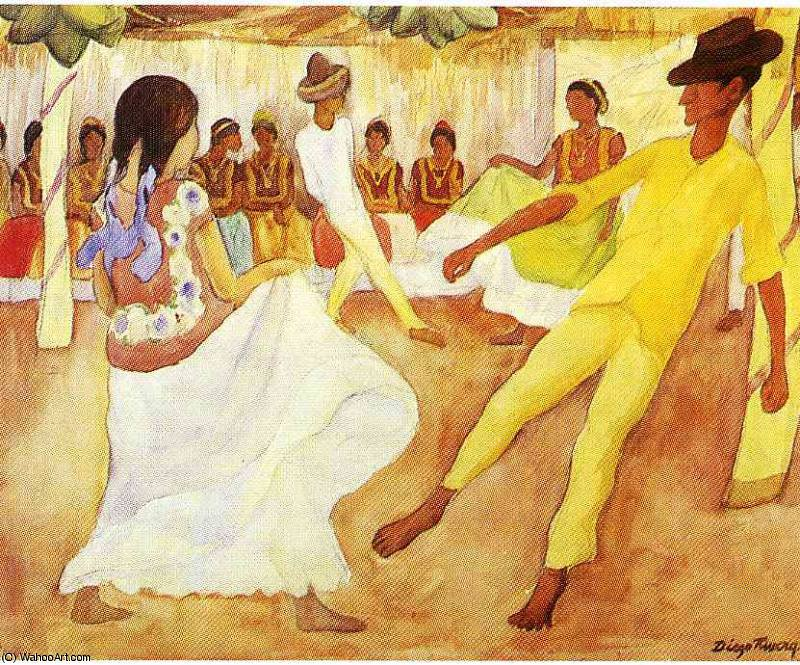 無題 (7863) バイ Diego Rivera (1886-1957, Mexico)