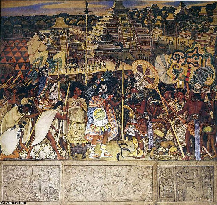 無題 (3662) バイ Diego Rivera (1886-1957, Mexico)