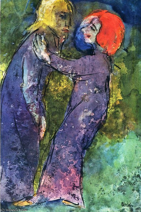 無題 (1951) バイ Emile Nolde (1867-1956, Germany)