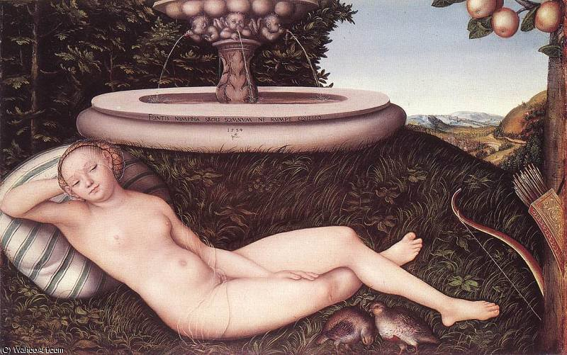 噴水のニンフ バイ Lucas Cranach The Elder (1472-1553, Germany)
