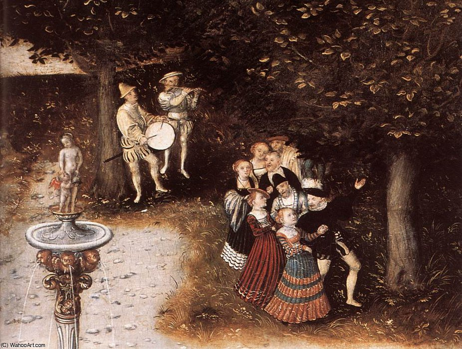 若返りの泉(詳細)5 バイ Lucas Cranach The Elder (1472-1553, Germany)