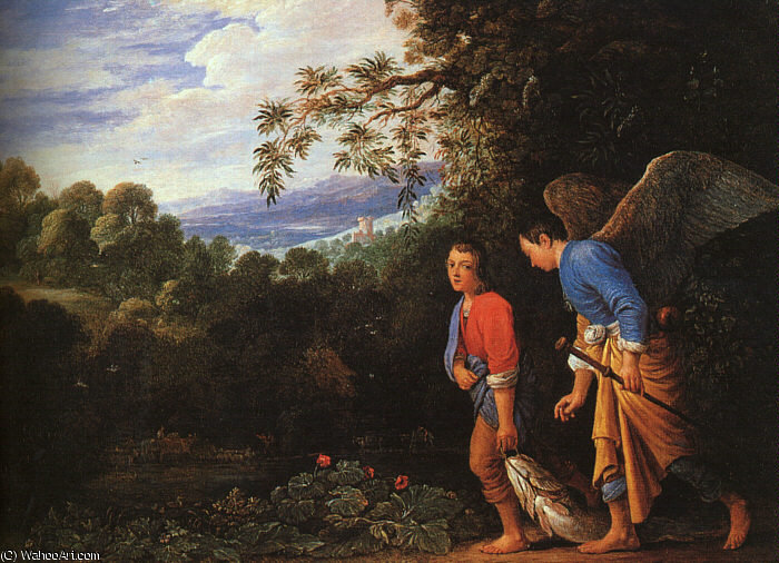 のFollwer), 1600 バイ Adam Elsheimer (1578-1610, Germany)