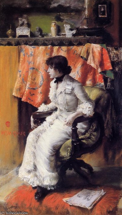 バージニアガーソン バイ William Merritt Chase (1849-1916, United States)