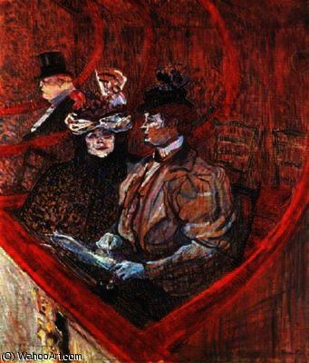 A ボックス で シアター バイ Henri De Toulouse Lautrec (1864-1901, France)
