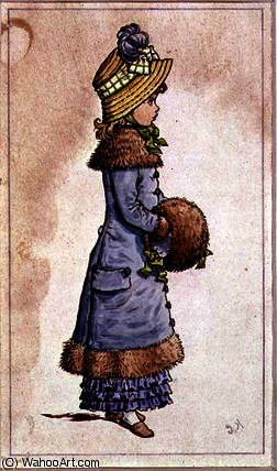 日曜日 最高の バイ Kate Greenaway (1846-1901, United Kingdom)