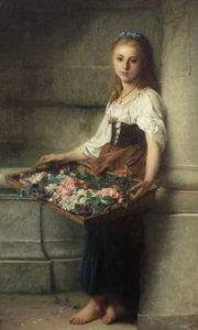 Adolphe Jourdan - flowerseller