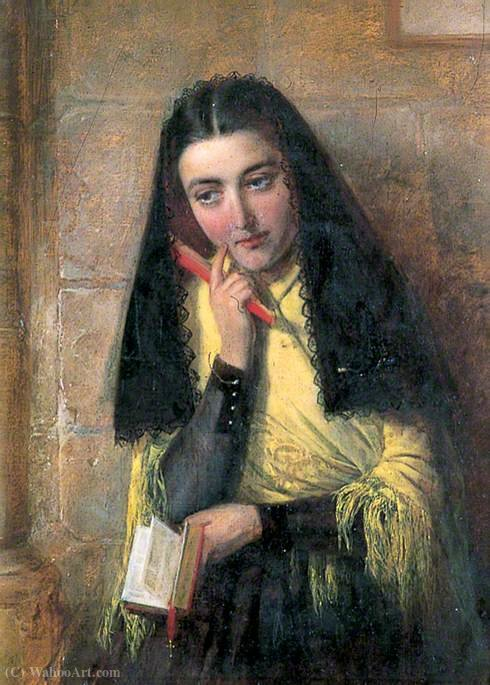 スペインの女の子 バイ John Bagnold Burgess (1829-1897, United Kingdom)