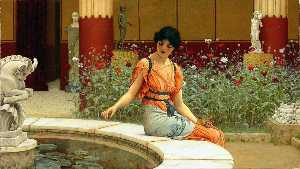 John William Godward - ザー 魚 池