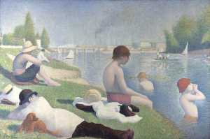 Georges Pierre Seurat - アニエールの入浴者